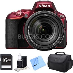 D5500 Red DSLR Camera 18-140mm Lens and 16GB Bundle