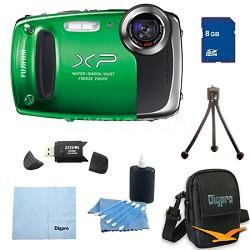 Finepix XP50 14MP CMOS Digital Camera 8 GB Bundle (Green)