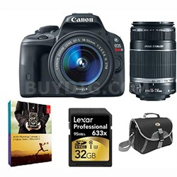EOS Rebel SL1 Digital SLR w/  18-55mm EF-S STM Lens and 55-250mm STM Bundle Deal