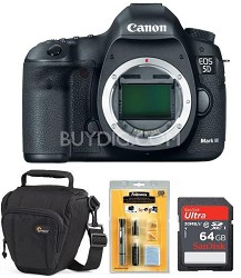EOS 5D Mark III 22.3 MP Full Frame CMOS SLR Body - Sandisk & Lowepro Bundle
