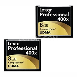 LCF8GBCTBNA4002 - Compact Flash 2-PK 8GB 400X