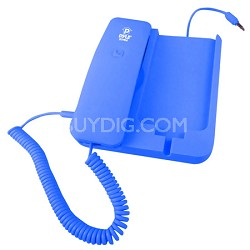 Handheld Phone and Desktop Dock for iPhone,Ipad & Android - Blue