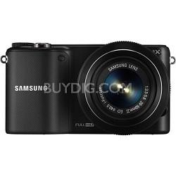 NX2000 20.3MP Black Smart Digital Camera with 20-50mm F/3.5-5.6 ED II Lens