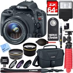EOS Rebel SL1 SLR Digital Camera + EF-S 18-55mm IS STM Lens Memory & Flash Kit