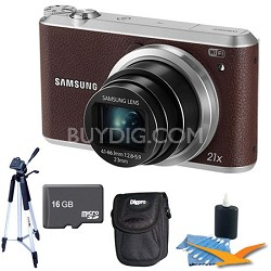WB350 16.3MP 21x Opt Zoom Smart Camera Brown 16GB Kit