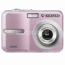 "S860 8MP 2.4"" LCD Digital Camera (Pink)"