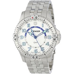 Men's Squadron GMT Watch - White Dial/Stainless Steel Bracelet