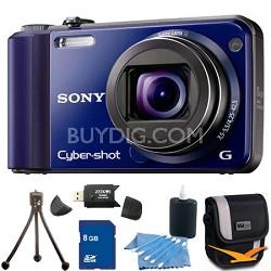 Cyber-shot DSC-H70 Blue Digital Camera 8GB Bundle
