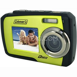 14MP Dual Screen Waterproof Digital Camera (Green) - OPEN BOX