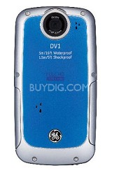 Active DV-1 AB Waterproof/Shockproof 1080P Pocket Video Camera Aqua Blue