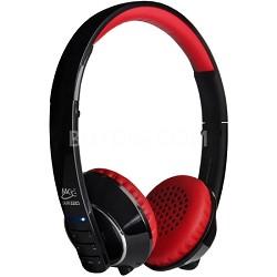 Air-Fi Runaway AF32 Stereo Bluetooth Wireless Headphones w/ Mic. (Black/Red)
