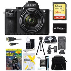 Alpha 7II Interchangeable Lens Camera with 28-70mm Lens 64GB Bundle