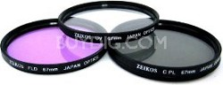 67mm UV, Polarizer & FLD Deluxe Filter kit (set of 3 + carrying case)