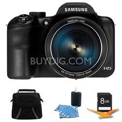 WB1100F 16.2MP 720p HD Video Smart Digital Camera Black 8GB Kit