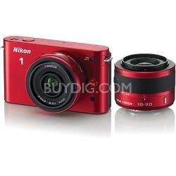 1 J1 SLR Red Digital Camera w/ 10mm & 10-30mm VR Lenses