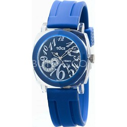 """Crystal 8"" Analog Round Watch Marine Blue - 40118"