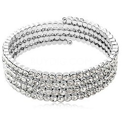 Swarovski Element Crystal and Alloy, Plated 18k White Gold Bracelet