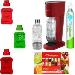 GENESIS Soda Maker Kit -Bundle with Cola, Root Beer, and Lemon Lime Sodamixes
