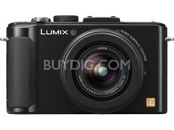 """LUMIX DMC-LX7K 10.1MP 3"""" LCD Digital Camera w/ 7.5x Intelligent Zoom - OPEN BOX"""