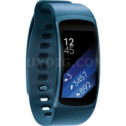 SM-R3600ZBAXAR Gear Fit2 Smartwatch with Large Band - Blue - OPEN BOX