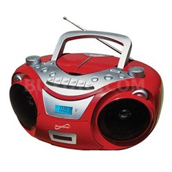 Portable MP3 CD Cassette in Red - SC-709RED