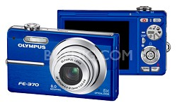 FE-370 8MP Digital Camera with Smile Shot (Blue)