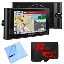 "dezlCam LMTHD 6"" GPS Truck Navigator w/ Dash Cam 32GB Micro SD Card Bundle"