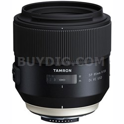 SP 85mm f1.8 Di VC USD Lens for Nikon Full-Frame DSLR Cameras (F016)