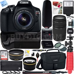 T6 EOS Rebel DSLR Camera + 18-55mm & 75-300mm Dual Lens Tascam Video Creator Kit