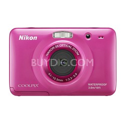 COOLPIX S30 10.1MP 2.7 LCD Waterproof, Shockproof Digital Camera - Pink