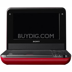 DVPFX750/R - 7 Inch Portable DVD Player (Red)