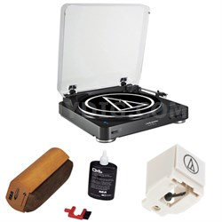 Fully Automatic Bluetooth Wireless Stereo Turntable - Black w/ Cleaning Kit