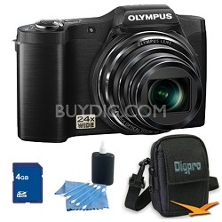 4 GB Kit SZ-12 14MP 3.0 LCD 24x Opt Zoom Digital Camera - Black