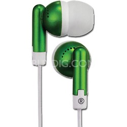 HP61GR Squish 9 MM Stereo Earbuds (Green)