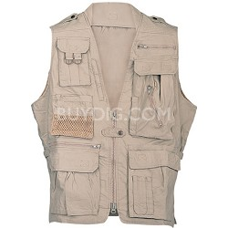 Safari Vest Khaki Medium Size