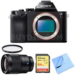 A7R (Alpha 7R) Interchangeable Lens Camera Body 35mm Prime Lens Bundle