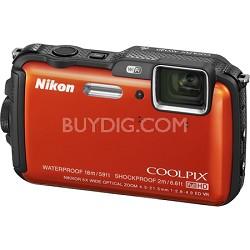 COOLPIX AW120 16MP 1080p Waterproof Shockproof Freezeproof Orange Camera Refurb