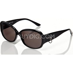 Black Frame with Loop Detail & Grey Lens Sunglasses