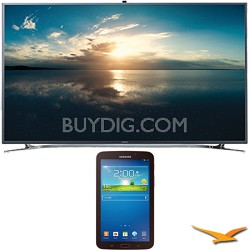 "UN55F9000 - 55"" 4K Ultra HD 120Hz 3D Smart LED TV - 7-Inch Galaxy Tab 3 Bundle"