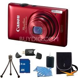 PowerShot ELPH 300 HS Red Digital Camera 8GB Bundle
