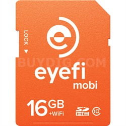 Mobi 16GB SDHC Class 10 Wireless Memory Card With 1-Year Eyefi Cloud Service