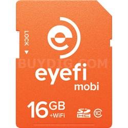 Mobi 16GB SDHC Class 10 Wireless Memory Card With 1-Year Eyefi Cloud Service