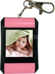 "DF15-BK 1.5"" Keychain Digital Photo Frame - Holds up to 107 Images (Pink)"