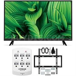 "D39hn-E0 D-Series 39"" Class Full-Array LED TV w/ Flat Wall Mount Bundle"
