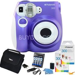 300 Instant Camera, Purple Value Bundle