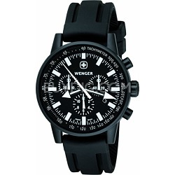 Men's Commando Patagonian Expedition Race Watch - Black Dial/Black Rubber Strap