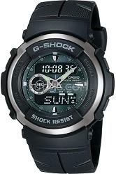 G300-3AV - G-Shock Street Rider Dark Green Face Black Band Watch