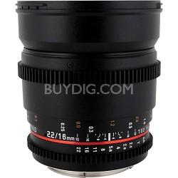 "16mm T2.2 ""Cine"" IF ED Wide-Angle Lens for Canon VDSLR"