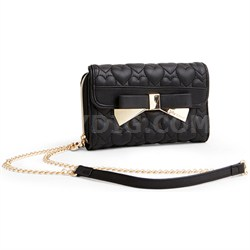 Be Mine Wallet on a String - Black