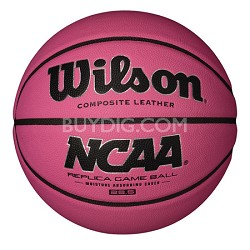 "NCAA Replica Game Ball 28.5"" Pink Basketball"